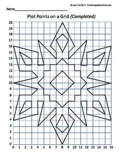 Plot Points on a Grid - Snowflake Coordinates
