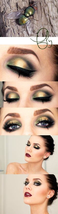 Stunning makeup look by Linda Hallberg. This chick is a bad ass...love her looks. They're never the same thing.