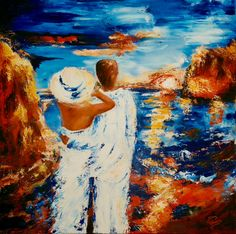 'In Love'  Acrylic painting 90 x 90 x 4 Sold