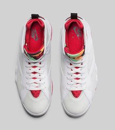 f0cadc1b5d20 How To Buy Authentic Youth Big Boys Air Jordan Boys Shoe Air Jordan 7 Retro  Hare White True Red Light Silver Tourmaline On Sale