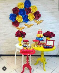 Ideas For Party Adult Women Wonder Woman Birthday, Wonder Woman Party, Birthday Woman, Superhero Birthday Party, First Birthday Parties, First Birthdays, Superman Party, Party Activities, Childrens Party