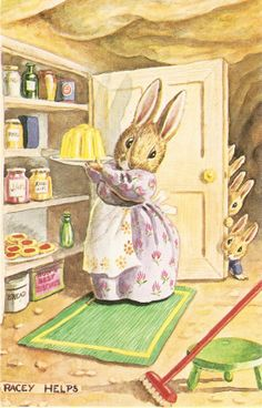 Somebody's Watching Dressed Bunnies by sharonfostervintage on Etsy, $6.00