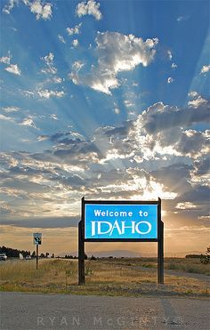 Describes Idaho perfectly :) Beautiful skies. Except for right now because of all the fires :(