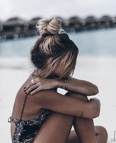 Messy sandy hair