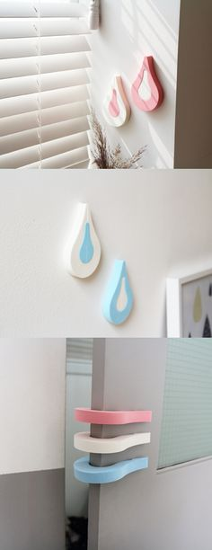 Water Drop Door Stopper Set is a super cute and very uniquely designed door stopper!
