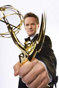 NPH with his Emmy.  Always repin NPH.