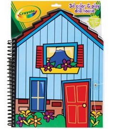 Colorbok Crayola 3D Color and Play Doll House Coloring Book
