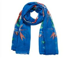 Flower butterfly and bird print scarf - Buy 1 Add 1 Free - Mix & Match on All Scarves