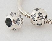 Kitty ball Trollbeads / Pandora Style Charm Bead  Will Fit on most Bracelet line like Pandora & Trollbeads Bracelets