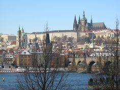 Prague NY Eve 2010 - view of Prague Castle from my room