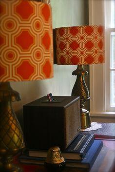colorful lamp shades