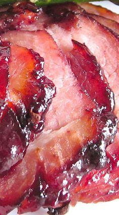 Baked Ham with Raspberry Chipotle Ham Glaze - The Food Charlatan Raspberry Recipes, Raspberry Popsicles, Raspberry Cobbler, Raspberry Punch, Raspberry Cordial, Raspberry Cocktail, Raspberry Buttercream, Raspberry Muffins, Raspberry Preserves