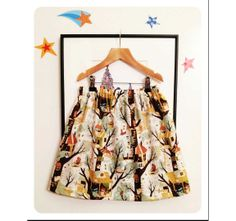 Tree forts skirt | SewingCircus via Etsy