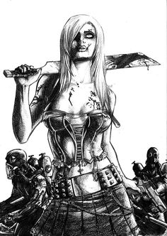 i would defiantly rock this as my zombie pinup                              …