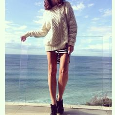 "Brisk but clear #beachside by tashsefton ""Sweater"""