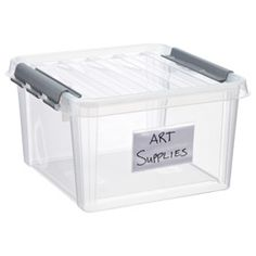 Great way to label those large totes in storage. Plus, it's easy to change the use of that tote. Write LARGE.