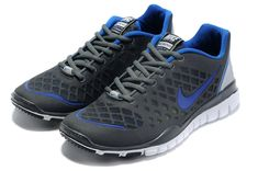reputable site b25b9 b2317 Men Nike Free TR Fit Dark Grey Royal Blue