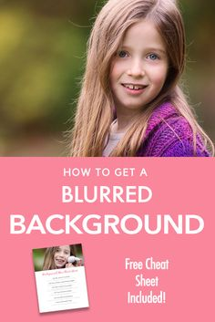 "Beginner Photography Tutorial - A step by step guide on how to blur out the background in your images!  Learn how to pull focus to your subject in this guide for beginners. You can also get your hands on a free ""cheat sheet' so you can print out the steps to have it with you when shooting!"