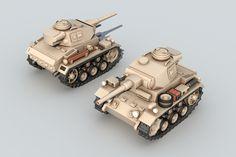 ArtStation - Mini Panzers, Balázs Szeleczki Military Units, Military Art, Army Vehicles, Armored Vehicles, Chibi, Poly Tanks, Steampunk Artwork, Panzer Iii, Model Tanks