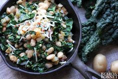 Potato, Kale and White Bean Hash...Going to try with butternut squash.