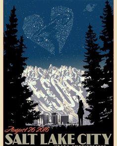 Salt Lake City's limited edition SLFL poster