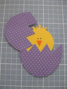 handmade Easter card - Cracked egg that opens ... paper pieced chick inside ...