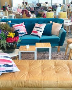~bright and bold~ colourful lounging for corporate events