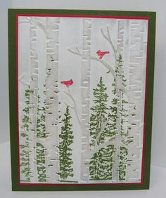 Personally Yours: Stampin' Up! Flurry of Wishes, Festival of Trees and more.... Christmas Cards To Make, Stamped Christmas Cards, Christmas Post, Xmas Cards, Holiday Cards, Homemade Christmas, Making Greeting Cards, Hand Made Greeting Cards, Greeting Cards Handmade