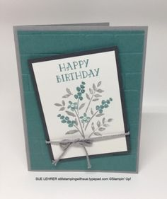 Birthday card using the Numbers of Years Stamp Set from Stampin' Up!