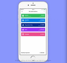Billy lets you track your subscriptions and bills in a simple app