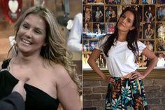 Deborah Secco antes e depois de diminuir a barriga