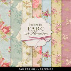 New Freebies Kit of Backgrounds - Parc de Floraison