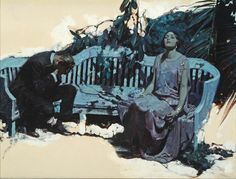 Dean Cornwell had a great way of breaking up edges of his illustration. Dean Cornwell (March 1892 – December was an American illustrator and muralist. Art And Illustration, American Illustration, Illustrations, Art Inspo, Kunst Inspo, Painting Inspiration, Design Inspiration, Figure Painting, Painting & Drawing