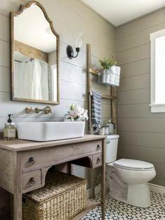 12 superbes meubles lavabos vintage et shabby chic pour la salle de bain | BricoBistro