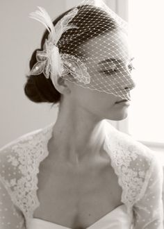 i will definitely wear a birdcage veil. i tried one on and fell in love with the look.