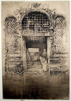 James McNeill Whistler - The Doorway Etching and drypoint on paper James Abbott Mcneill Whistler, Google Art Project, Art Society, National Gallery Of Art, Art For Art Sake, Techno, Vintage Wall Art, Art Google, Les Oeuvres