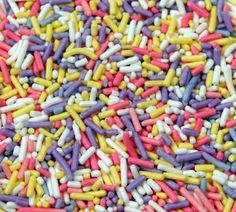 Multi Colored Pastel Jimmies Cookie Sprinkles 2 Cups
