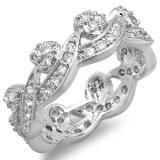 Share 1.50 CT Platinum Plated Ladies Round Cubic Zirconia CZ Wedding Bridal Engagement Eternity Band (Available in size 6, 7, 8) - Dazzling Rock #https://www.pinterest.com/dazzlingrock/