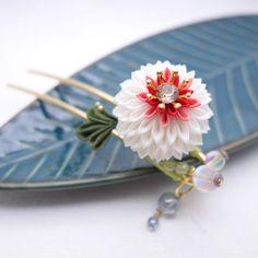 つまみ細工|「珠花」つまみ細工 かんざし 和 髪飾り|浴衣 きもの|受注制作