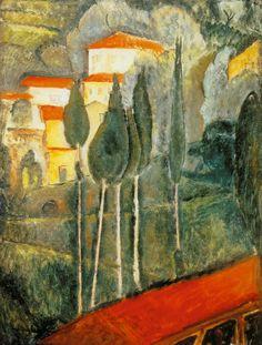 Amadeo Modigliani – Landscape in the Midi