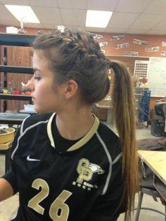 Cute Cheer Hairstyles Cute Volleyball Hairstyles Hairstyles Easy Sporty - All For Hairstyles DIY Cute Cheer Hairstyles, Cute Volleyball Hairstyles, Sporty Hairstyles, Girl Hairstyles, Braided Hairstyles, Braided Ponytail, Athletic Hairstyles, Braided Buns, Princess Hairstyles