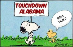 "Eli's ""Touchdown, Alabama!"" ... Snoopy's way. Crimson Tide Football, Alabama Football, Alabama Crimson Tide, College Football, Alabama College, University Of Alabama, Football Memes, Football Program, Football Stuff"