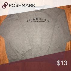GREY CHAMPION CREWNECK SWEATSHIRT Size: XXL Condition: Pre-owned - Good Price: $13 Champion Sweaters Crewneck