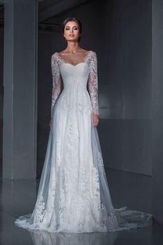Lace wedding dress.Wedding dress. Long sleeves by AutumnSilkBridal - evening dresses for women, christmas dresses for women, tight pink dress *ad