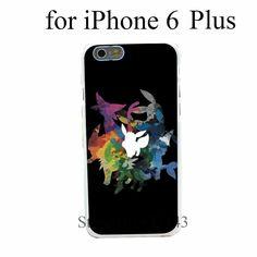 pokemon shirt Pokemon leafeon evolution Style Hard White Cover Skin Back Case for iPhone 6 6s 6 plus