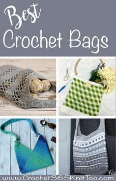 60 spectacular crochet bags.  #crochetlove #crochet #crochetpattern
