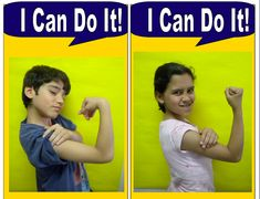 """Make Rosie the Riveter-style """"I Can Do It!"""" pictures of each student showing what they can do to change the world / make it a better place"""