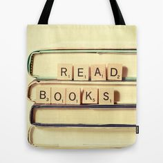 Scrabble book tote. Umm... yes.