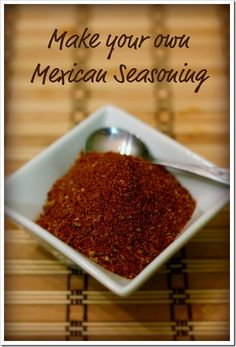 Homemade Mexican Spice Mix, Taco Seasoning