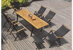 Ανοιγόμενο Τραπέζι Βεράντας με Σκελετό Αλουμινίου AG-220435